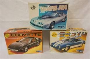 3 MPC MODEL CAR KITS