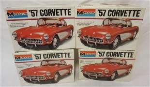4 MONOGRAM CORVETTE CAR MODEL KITS