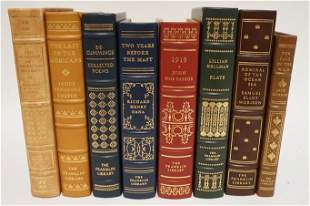 8 LEATHER BOUND GILT EDGE FRANKLIN LIBRARY BOOKS