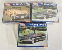 LOT OF 3 MONOGRAM MODEL CAR KITS. SEALED IN BOX