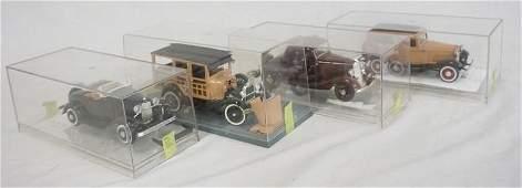 LOT OF 4 BUILT MODEL KITS OF ANTIQUE CARS