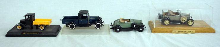 LOT OF 4 MODELS OF ANTIQUE CARS