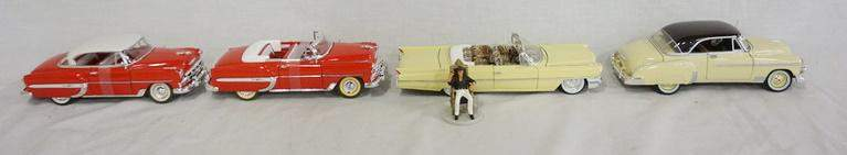 LOT OF FOUR DIE CAST MODELS OF VINTAGE CARS
