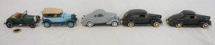 LOT OF 5 BUILT MODEL KITS OF ANTIQUE CARS