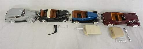 LOT OF 4 BUILT MODEL KITS OF ANTIQUE CARS