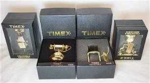 4 TIMEX COLLECTIBLE MINI CLOCKS