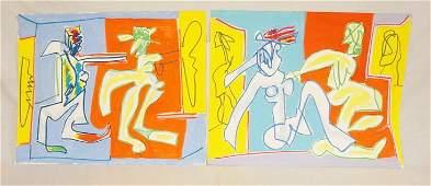 LOT OF 2 ORIGINAL PIECES OF ARTWORK SIGNED CICERO