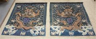 PAIR OF HAND SEWN ASIAN TAPESTRIES