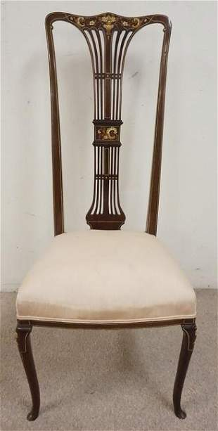 ORNATE VICTORIAN HIGH BACK SIDE CHAIR