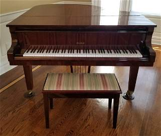 PETROF BABY GRAND PIANO W/MATCHING BENCH