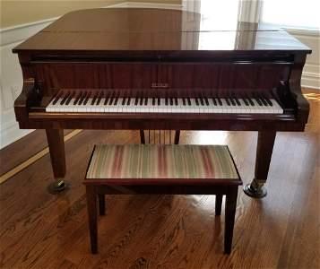 PETROF BABY GRAND PIANO W/MATCHING BENCH