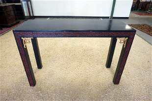 BLACK LACQURED ASIAN  CONSOLE TABLE