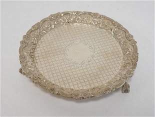 S KIRK & SON STERLING SILVER SMALL FOOTED TRAY