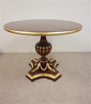 MAHOGANY TABLE ON URN SHAPED PEDESTAL
