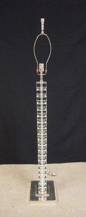 RESTORATION HARDWARE STACKED CRYSTAL FLOOR LAMP
