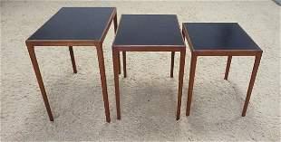MID CENTURY MODERN DANISH NEST OF 3 TABLES
