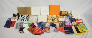LARGE LOT OF HANDKERCHIEFS/BOW TIES