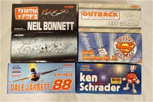 6 ACTION RACING COLLECTABLES NASCAR MODEL CARS.