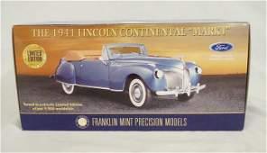 FRANKLIN MINT PRECISION MODEL; 1941 LINCOLN