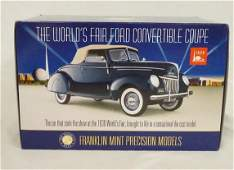 FRANKLIN MINT 1939 WORLDS FAIR FORD COUPE MODEL