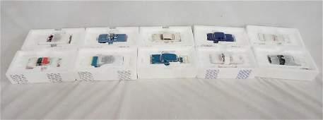 LOT OF 10 FRANKLIN MINT DIE CAST MODEL CARS