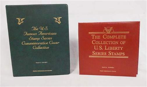LOT OF 2 COMMEMORATIVE STAMP ALBUMS