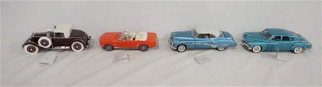 LOT OF 4 FRANKLIN MINT PRESICION MODEL CARS