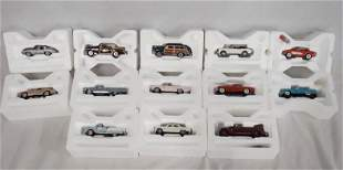 LOT OF 13 FRANKLIN MINT 1:43 SCALE MODEL CARS
