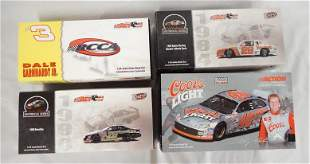 LOT OF 4 ACTION COLLECTABLES NASCAR MODEL CARS