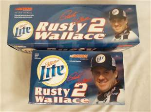 2 RUSTY WALLACE NASCAR ACTION COLLECTABLES MODELS