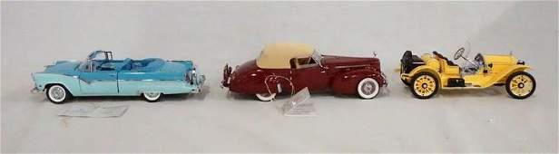 3 FRANKLIN MINT PRECISION MODEL CARS