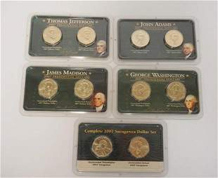 5 2007 UNCIRCULATED PRESIDENTIAL COINS