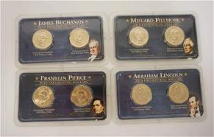 4 2010 UNCIRCULATED PRESIDENTIAL COINS