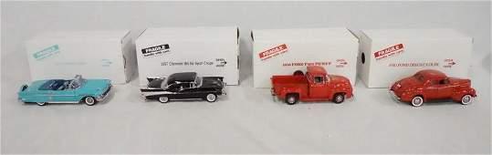4 DANBURY MINT MODEL CARS