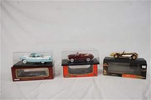 3 MODEL CARS W/ ORIGINAL BOXES