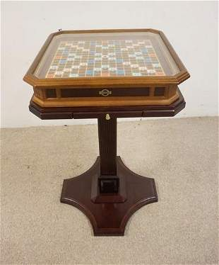 SCRABBLE COLLECTORS EDITION GAME TABLE