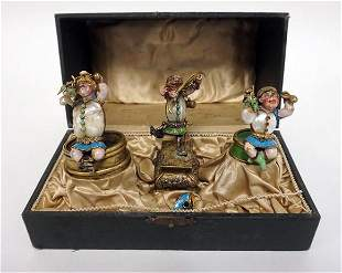 3 COLD PAINTED BRONZE FIGURES