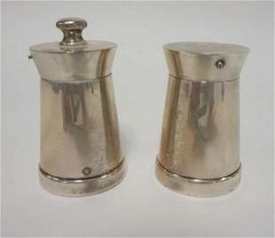 STERLING BLACK STAR AND GORHAM SHAKERS