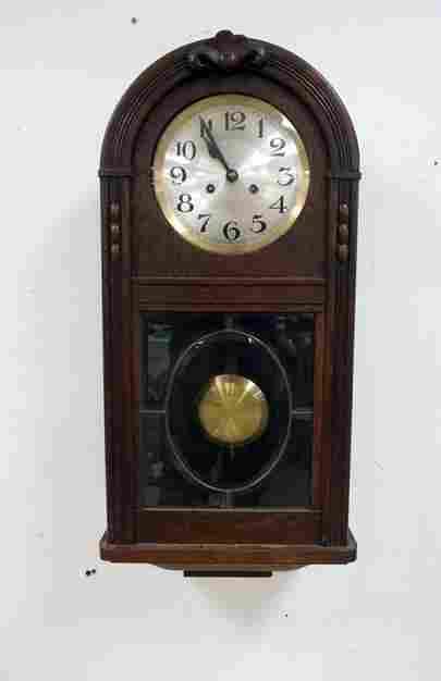 GERMAN OAK WALL CLOCK