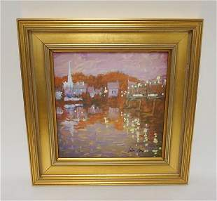 OIL PAINTING ON BOARD SIGNED