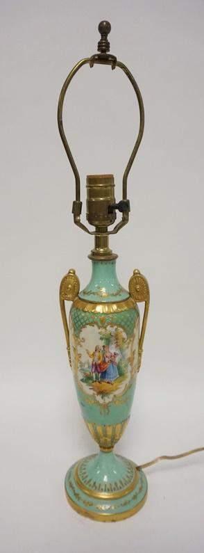 DRESDEN PORCELAIN URN TABLE LAMP