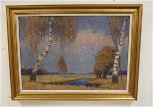 ALFRED LAUTH OIL ON CANVAS