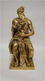 F. BARBEDIENNE GILT BRONZE MOSES