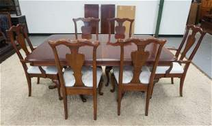 SOLID CHERRY QUEEN ANNE STYLE DINING ROOM SET