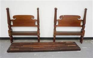 PAIR OF MAHOGANY TWIN BEDS