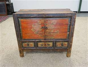 PAINT DECORATED ASIAN CABINET