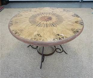 STONE MOSAIC TOP TABLE