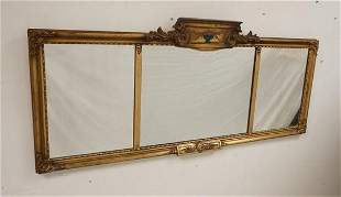 TRIPTYCH MIRROR IN PAINT DECORATED FRAME