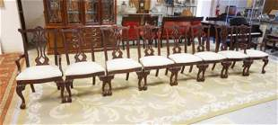 SET OF 8 THOMASVILLE CHIPPENDALE STYLE CHAIRS