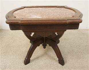 SM VICTORIAN MARBLE TOP TABLE